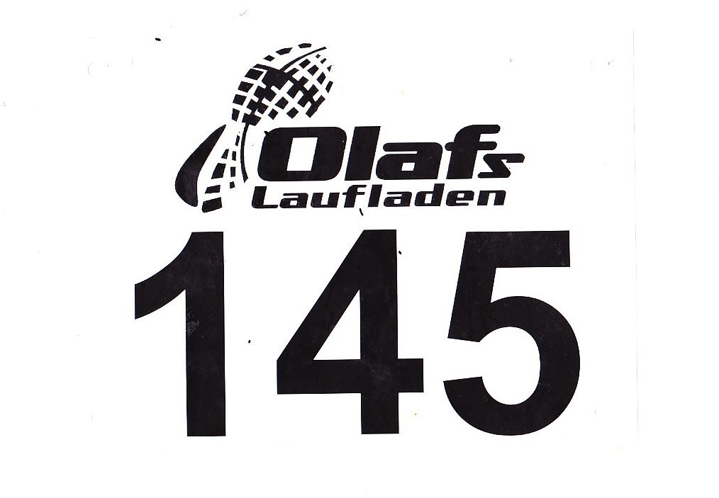 Volkslauf Halbmarathon Harsewinkel 2016 - Startnummer