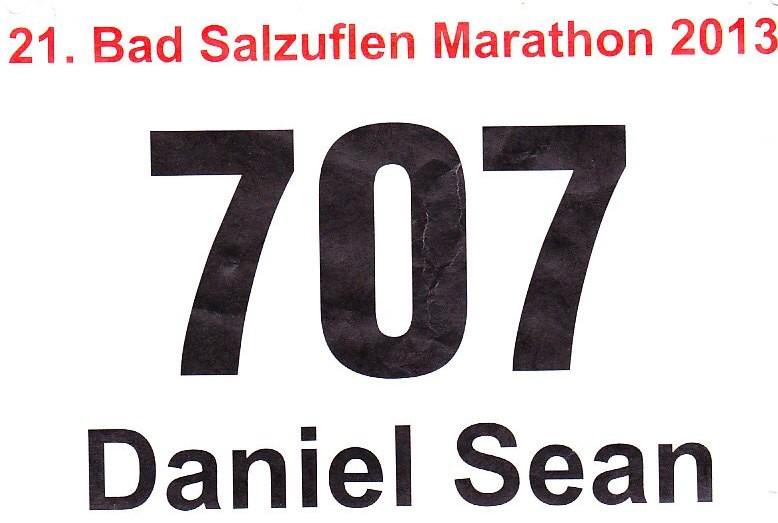 Bad Salzuflen (Block-) Marathon 2013 - Startnummer