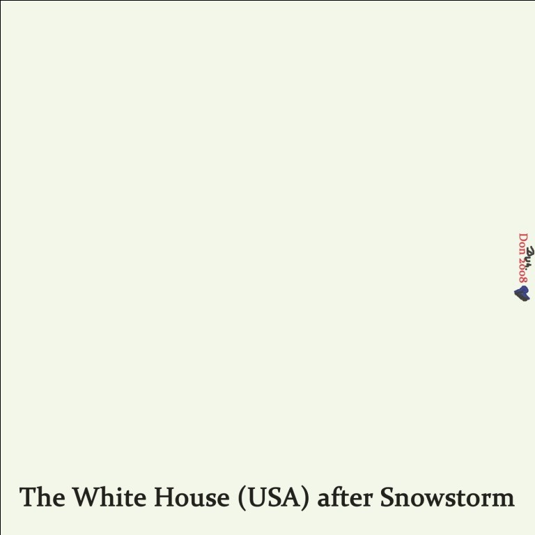The White House (USA) after Snowstorm - by Don2008