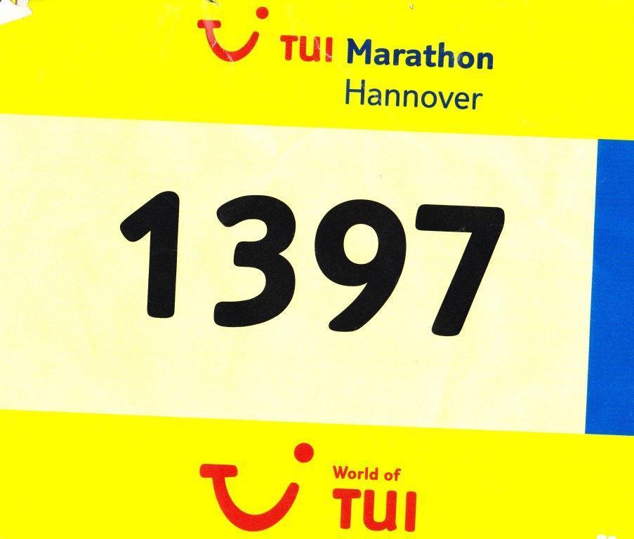 Hannover Marathon 2012 - Startnummer 1397