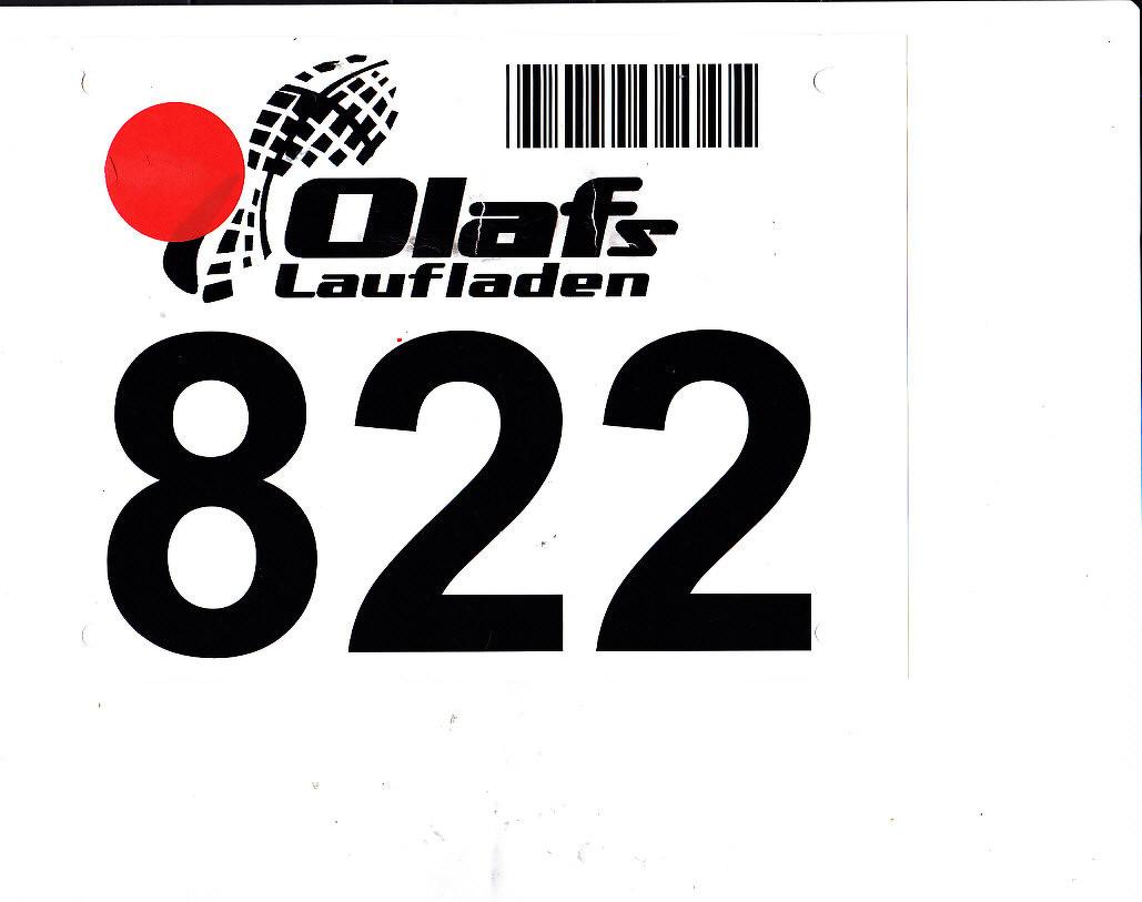 Startnummer Lutterlauf - Marienfeld 2014