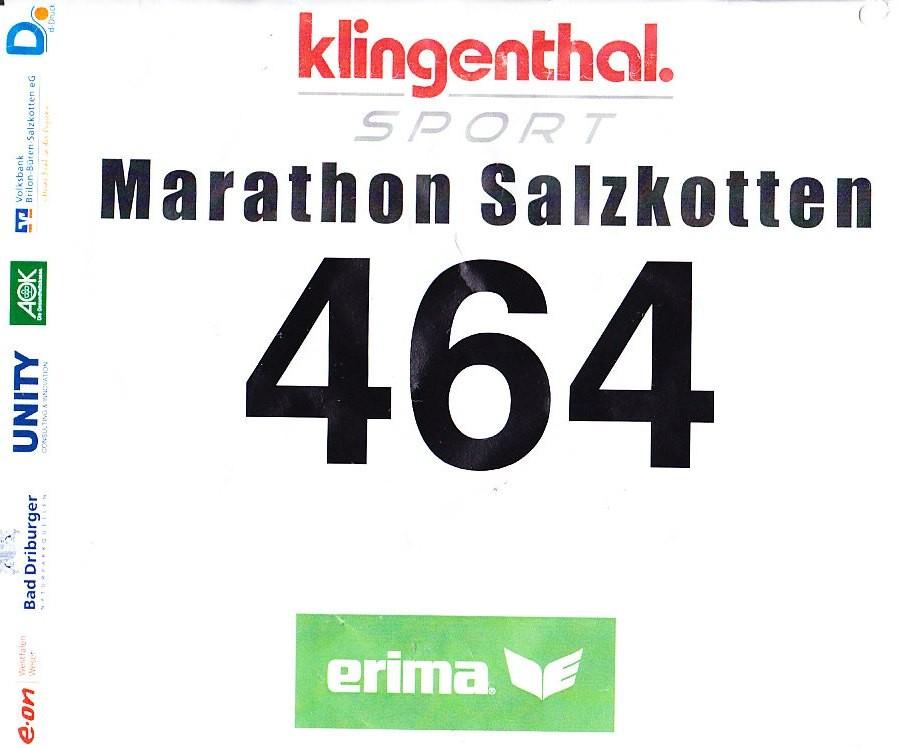 Salzkotten (Halb-) Marathon 2013 - Startnummer