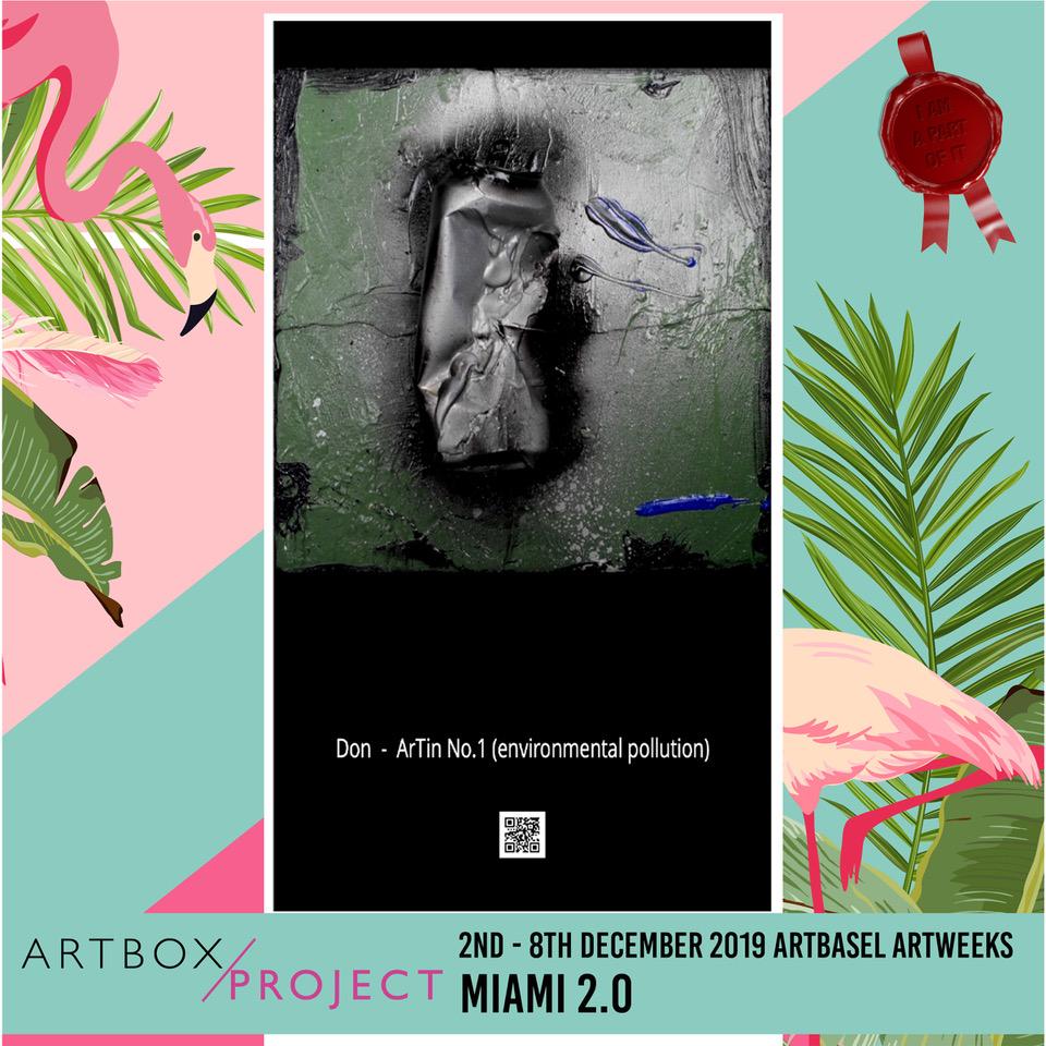 Art Miami 2019 | ArTin No. 1 (environmental pollution) | by DON