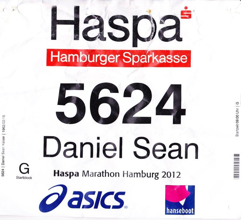 Hamburg Marathon 2012 - Startnummer 5624