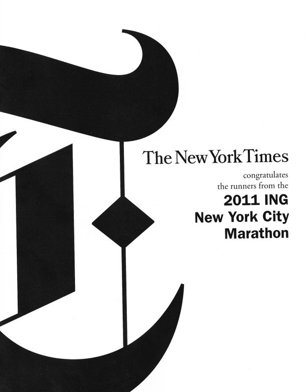 New York Times - New York City Marathon 2011