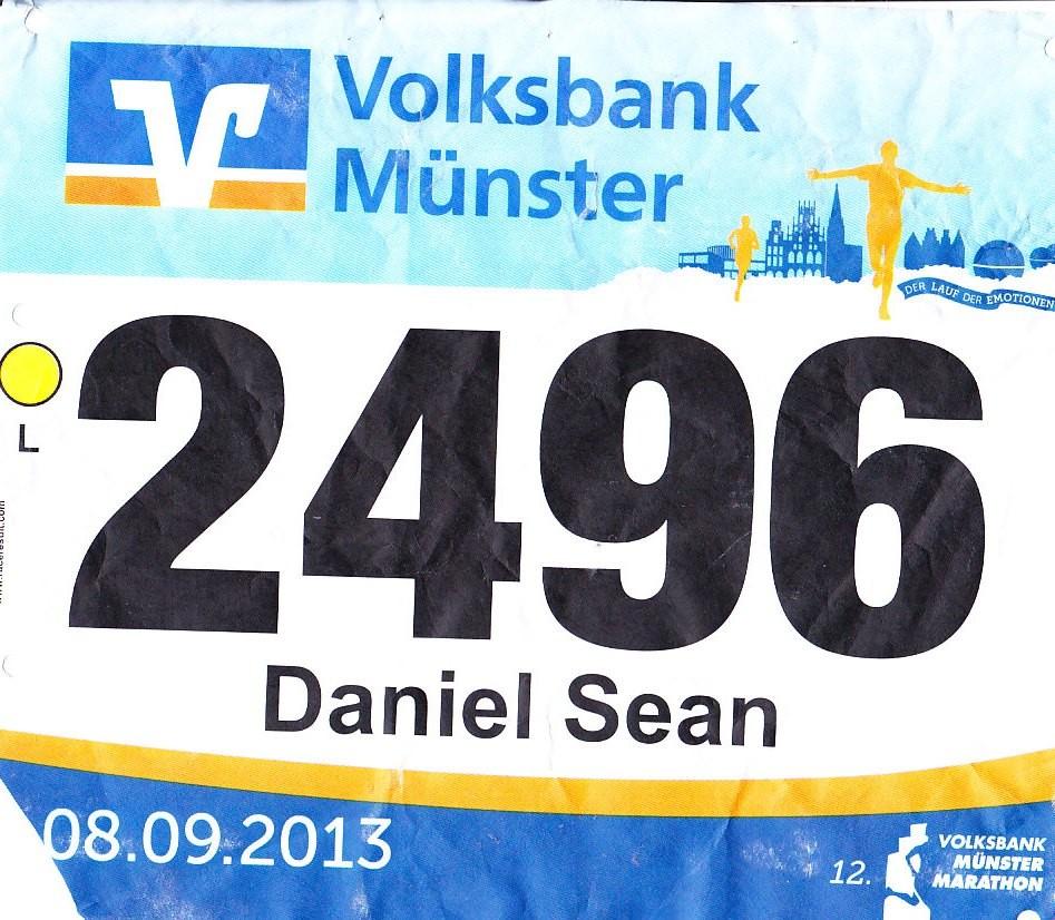 Münster Marathon 2013 - Startnummer