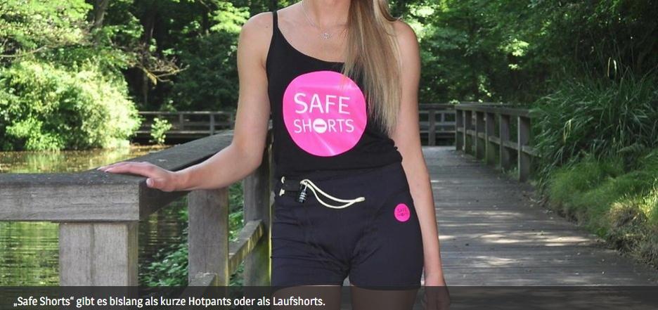 """Safe Shorts"": Laufhose mit Alarmsystem, Schloss und Protektor"