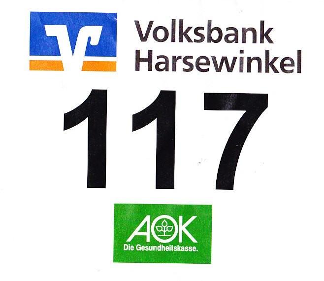 Klosterlauf Marienfeld 2013 - Startnummer