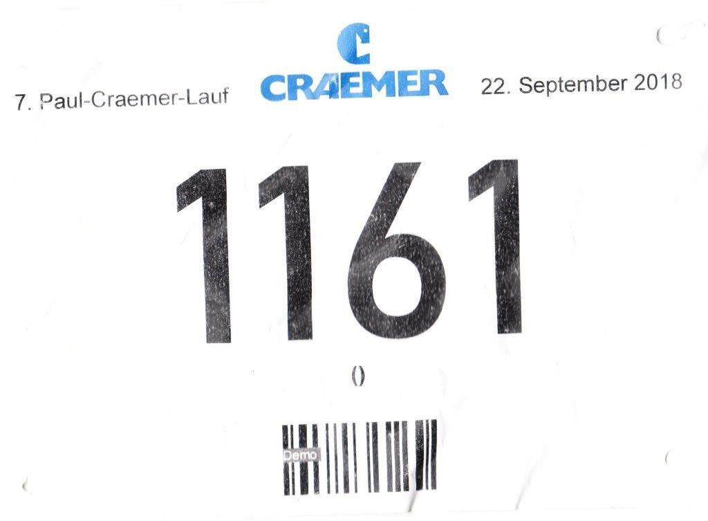 Craemer Fun Runner 2018 - Startnummer