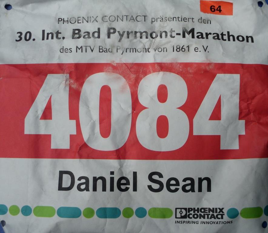 Bad Pyrmont Marathon 2019 - Startnummer (42,195 KM)