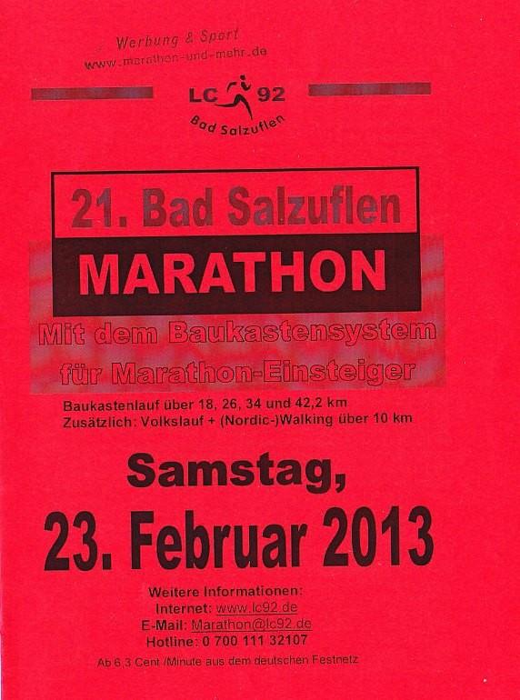 Bad Salzuflen (Block-) Marathon 2013 - Flyer