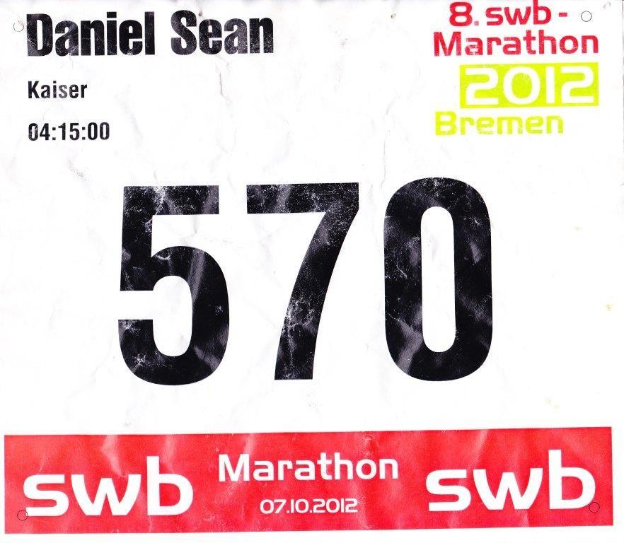 Bremen Marathon 2012 - Startnummer 570