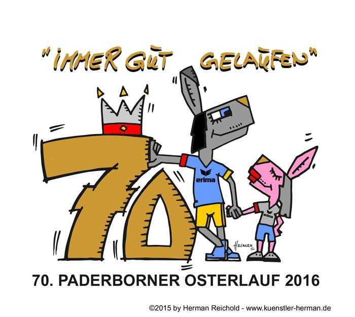 PB Osterlauf 2016 - Cartoon