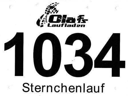 Sternchenlauf Sende 2014 - Startnummer