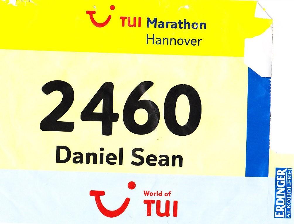 Hannover Marathon 2013 - Startnummer