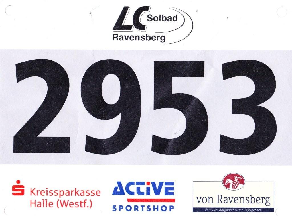 Weihnachtscrosslauf 2013 - Startnummer