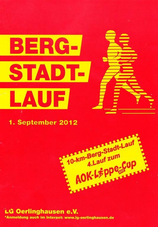 Berg-Stadt-Lauf 2012 - Programmheft