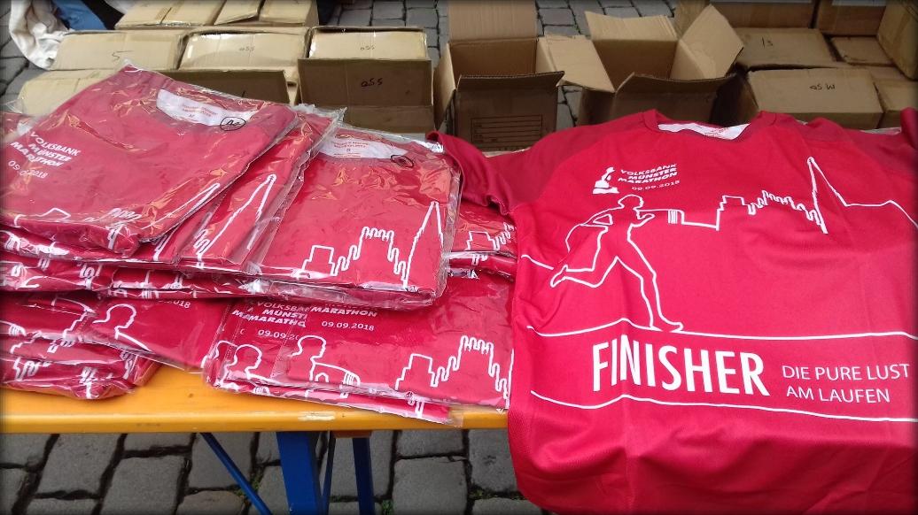 Münster Marathon 2018 - Finisher-Shirt