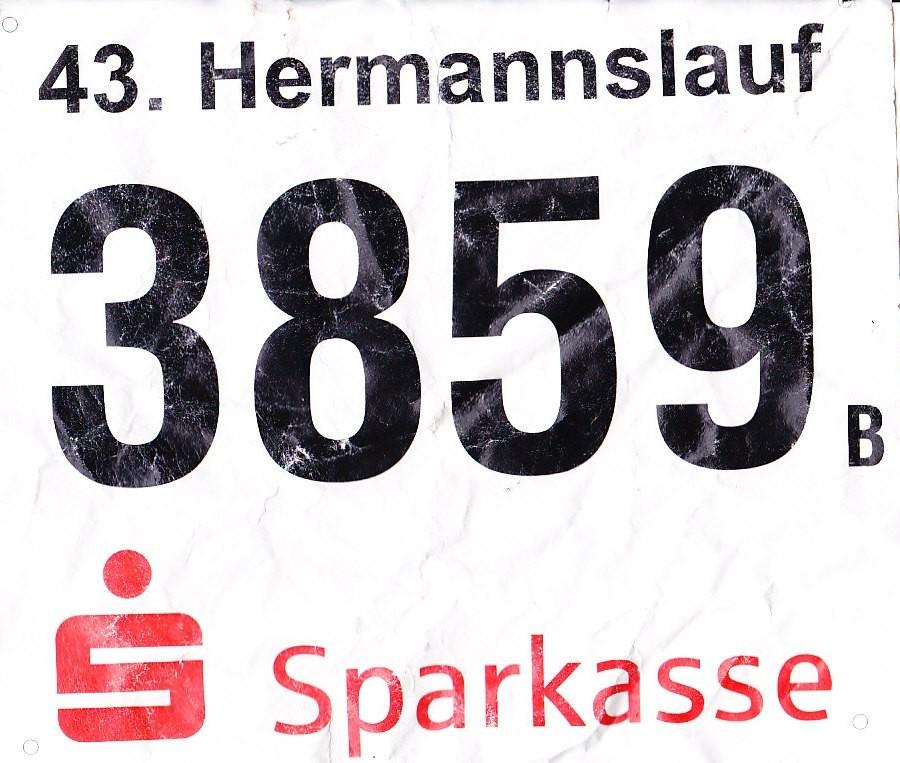 Hermannslauf 2014 - Startnummer