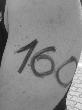 Mit 160 auf nackter Haut