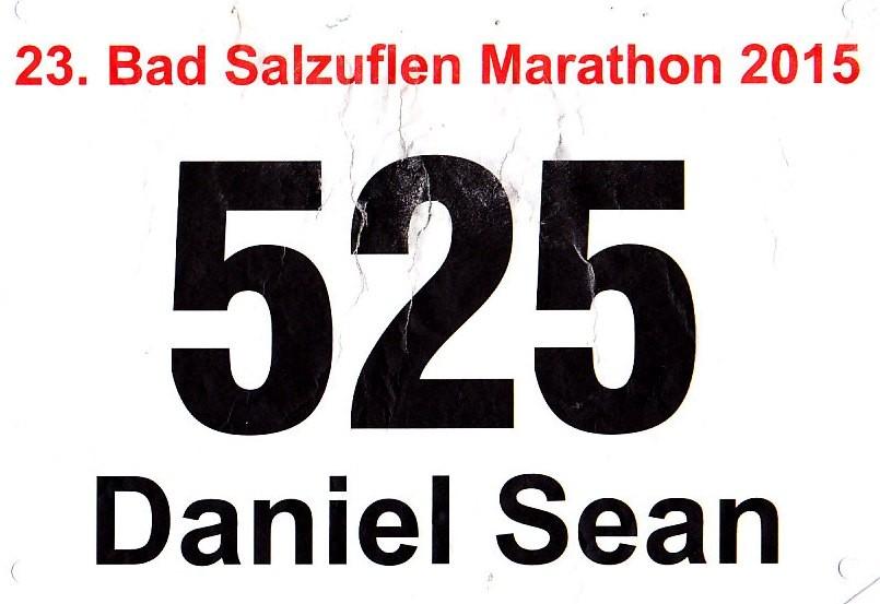 Bad Salzuflen Marathon 2015 - Startnummer