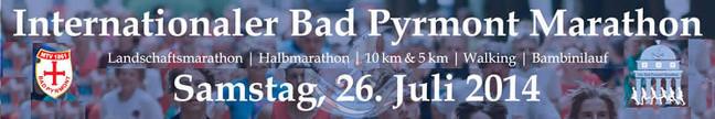 Int. Bad Pyrmont Marathon 2014 - Banner