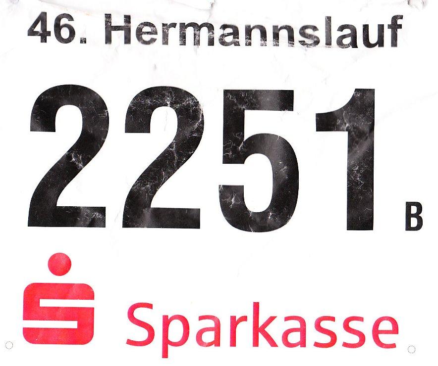 Hermannslauf 2017 - Startnummer (Quersumme 10)