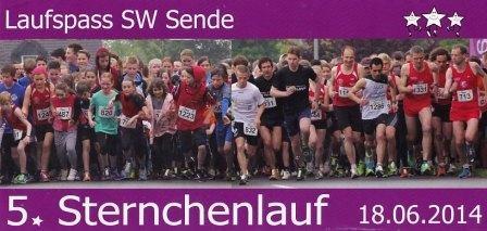 Sternchenlauf Sende 2014 - Flyer
