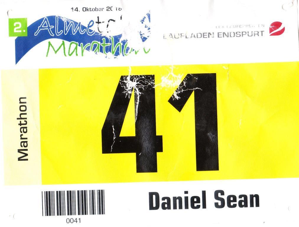 Almetal Marathon 2018 - Startnummer