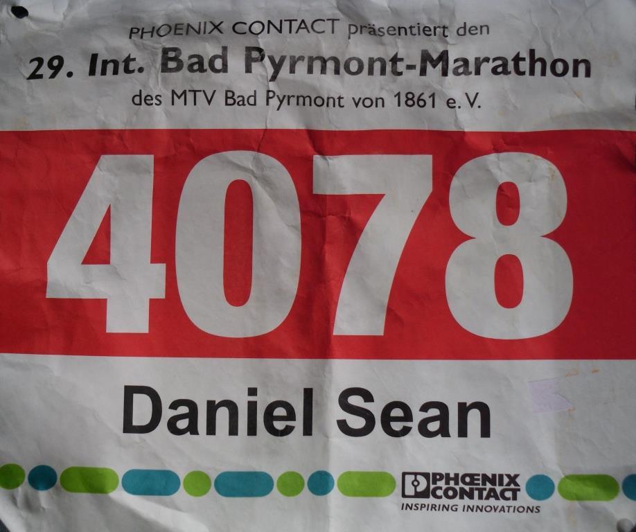Bad Pyrmont Marathon 2018 - Startnummer