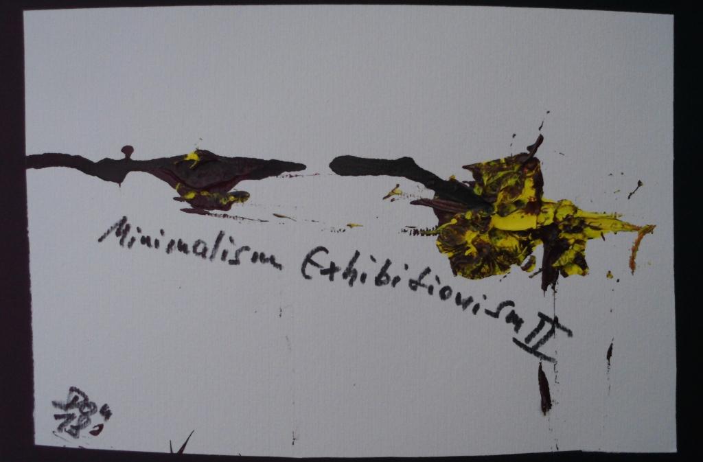 Minimalism Exhibitionism II | Y2018