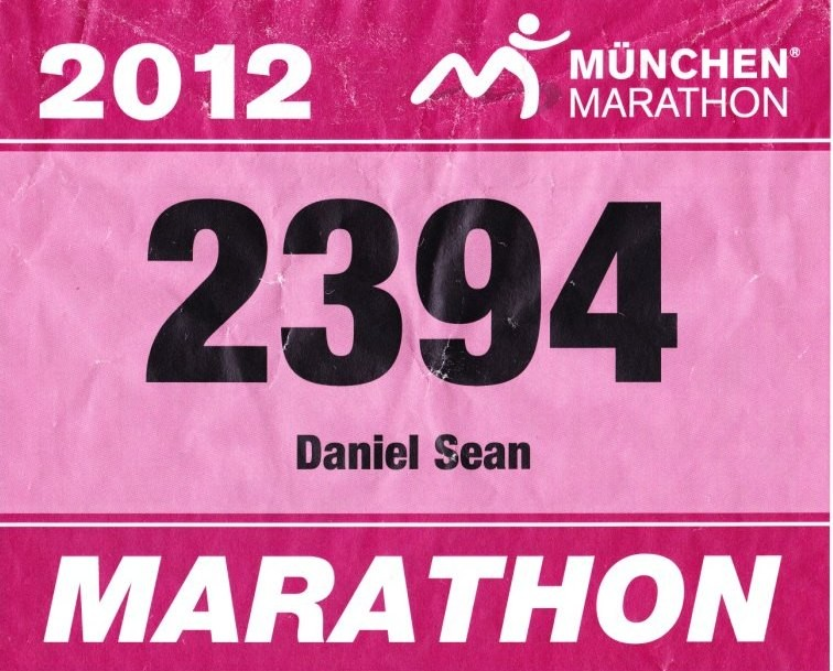 München Marathon 2012 - Startnummer 2394
