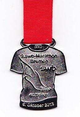 Bremen Marathon 2013 - Medaille