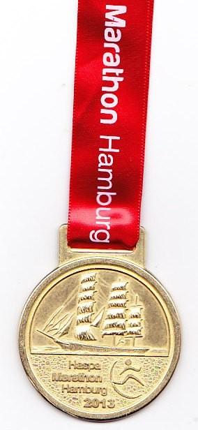 Hamburg Marathon 2013 - Medaille