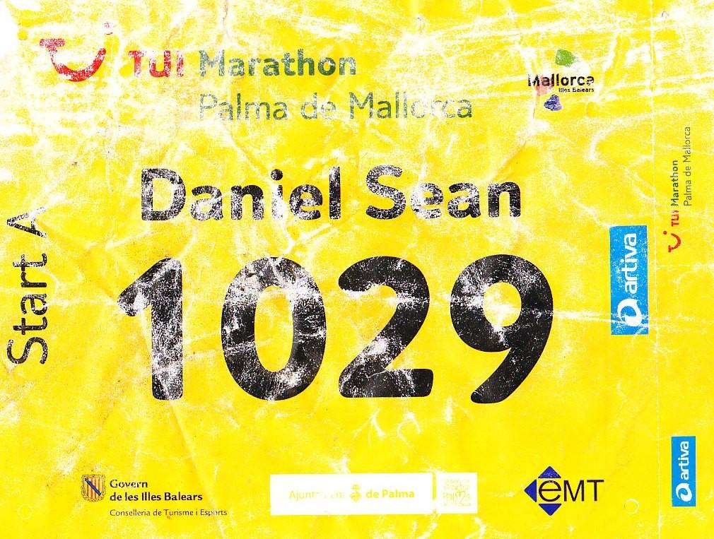 Mallorca Marathon 2013 - Startnummer