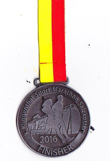 Salzkotten (Halb)Marathon 2016 - Medaille
