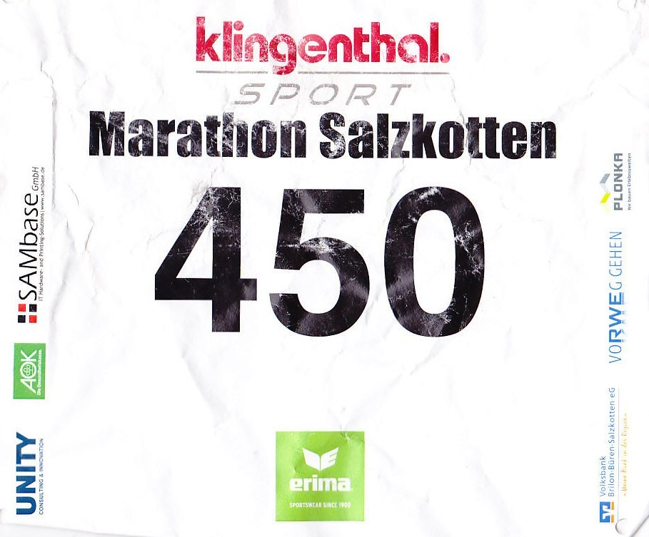 Salzkotten (Halb-) Marathon 2014 - Startnummer