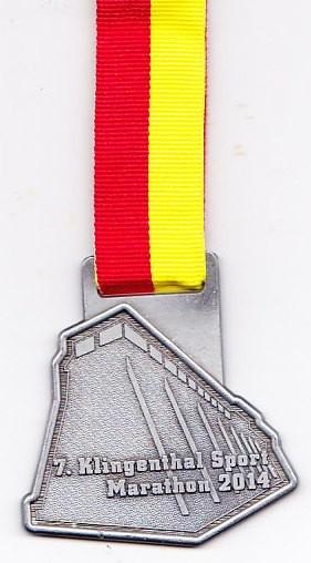 Salzkotten (Halb-) Marathon 2014 - Medaille