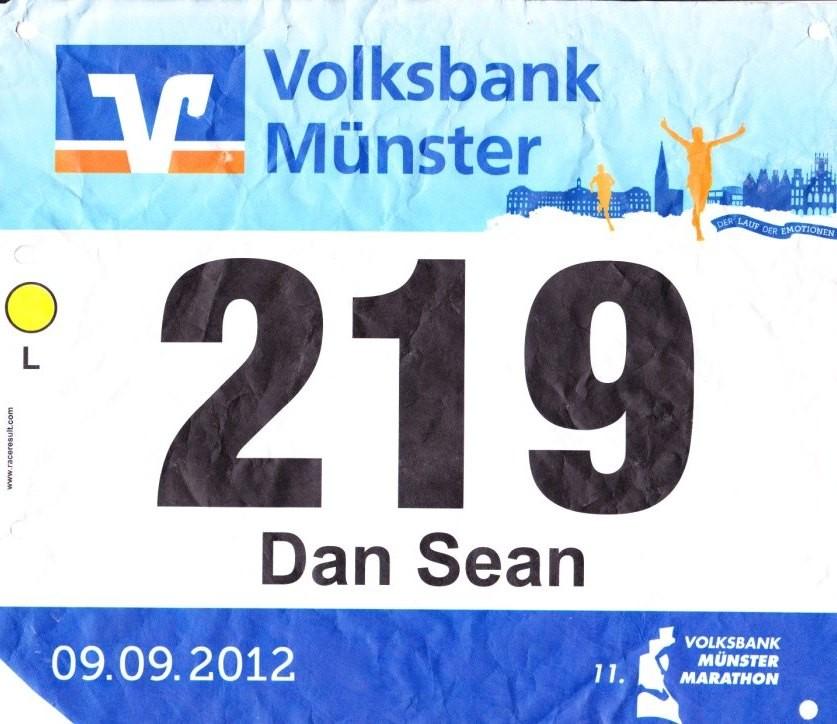 Münster Marathon 2012 - Startnummer 219