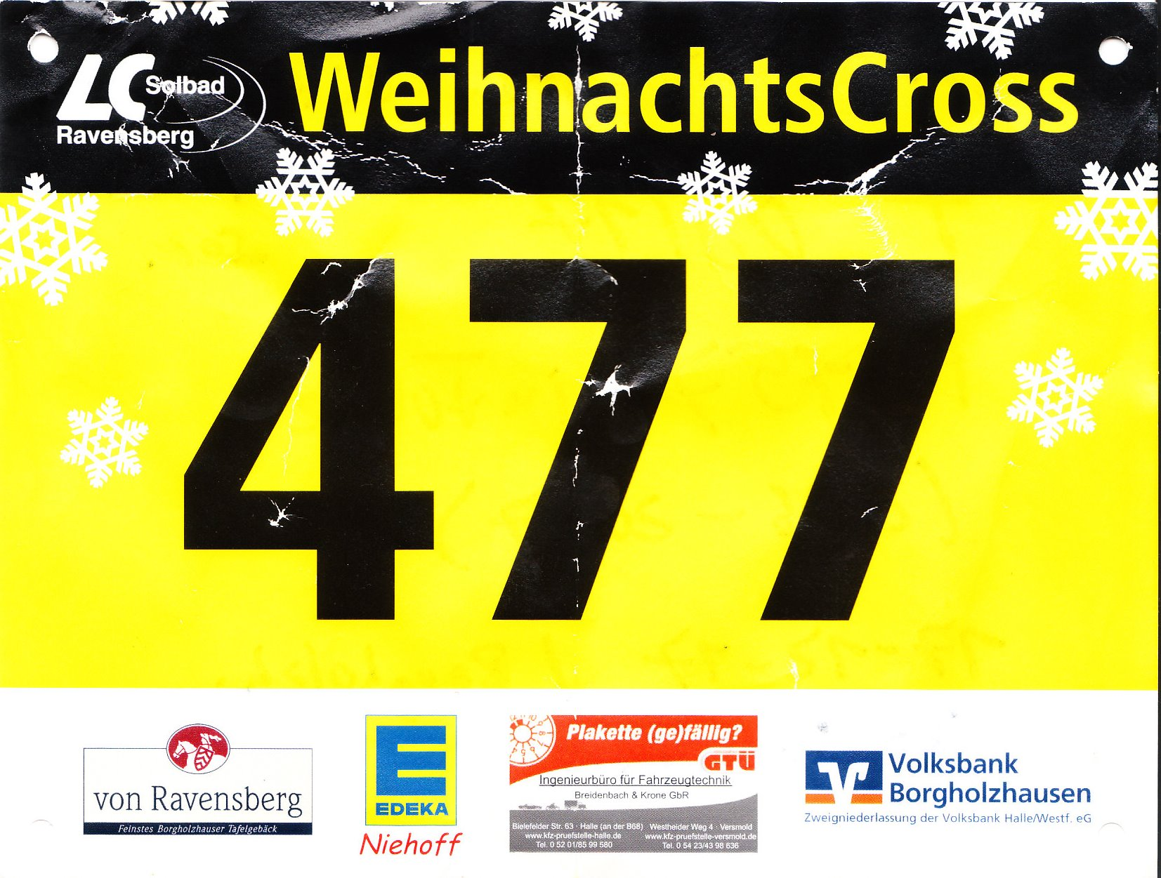 Weihnachtscrosslauf 2017 - Startnr.