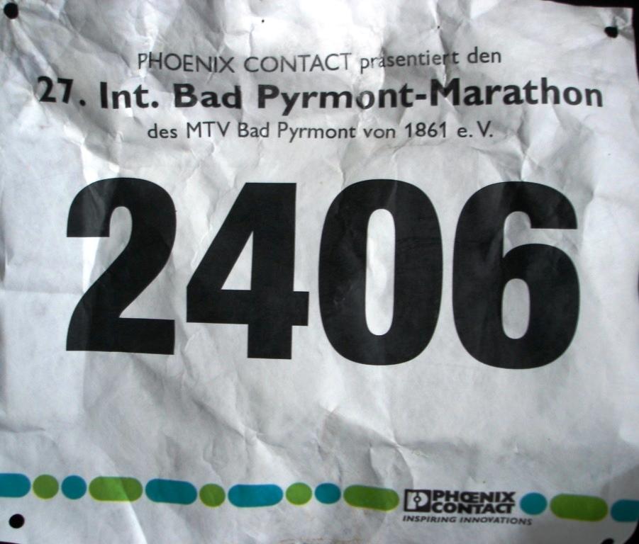 Bad Pyrmont (Halb-)Marathon 2016 - Startnummer