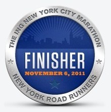 New York Marathon 2011 - Finisher