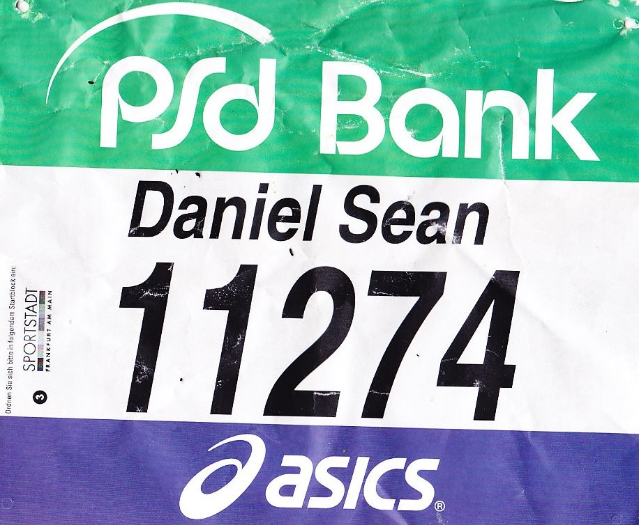 Frankfurt Marathon 2015 - Startnummer