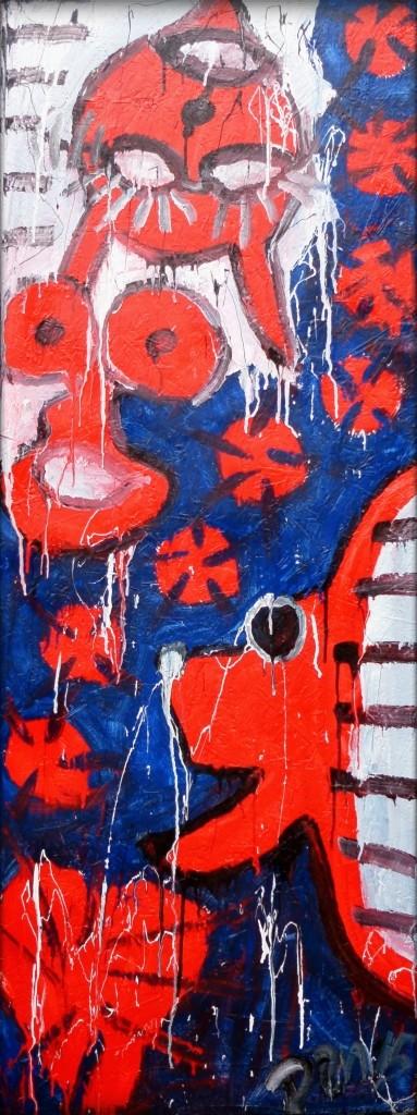 Freeze (back) / Buntlack auf Holz / 63 x 169 cm / by Don15