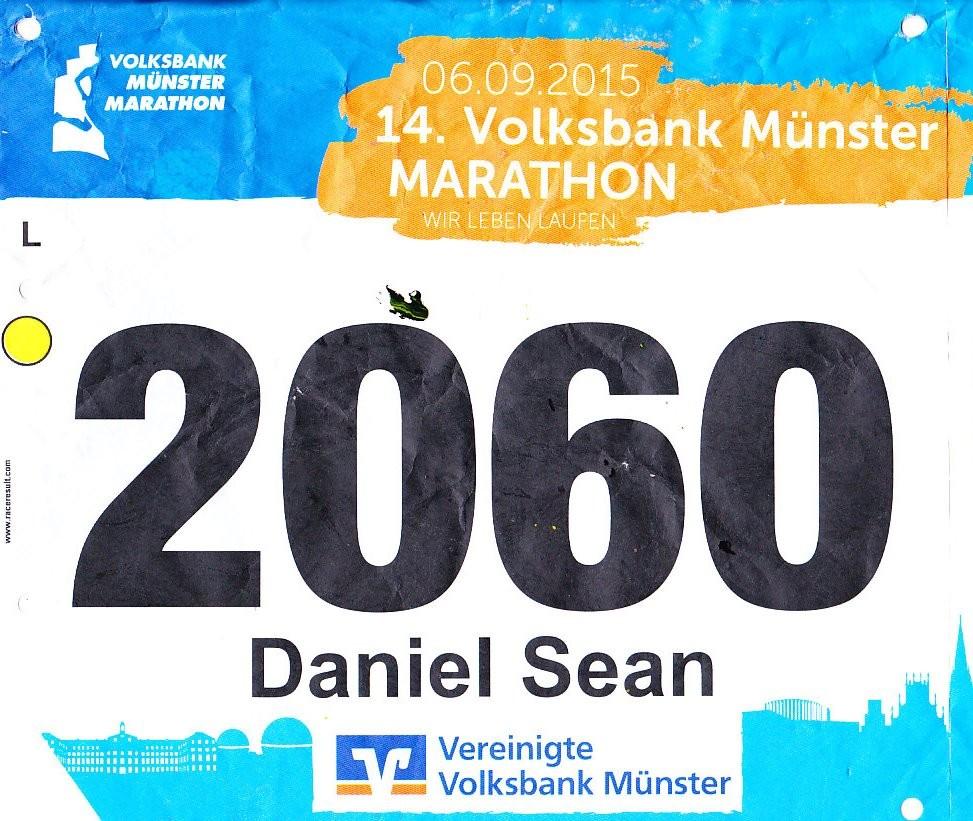 Münster Marathon 2015 - Startnummer