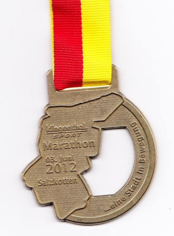 Marathon Salzkotten 2012  - Medaille