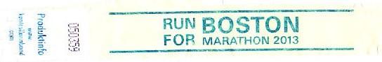 Hamburg Marathon 2013 - Run for Boston 2013