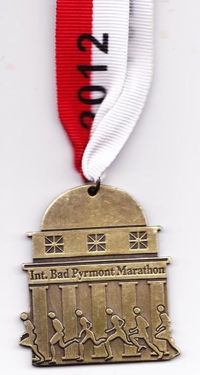 Bad Pyrmont Marathon 2012 - Medaille