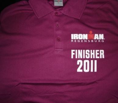 Finisher Shirt IRONMAN Regensburg 2011