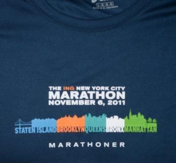 Finisher Shirt - New York City Marathon 2011